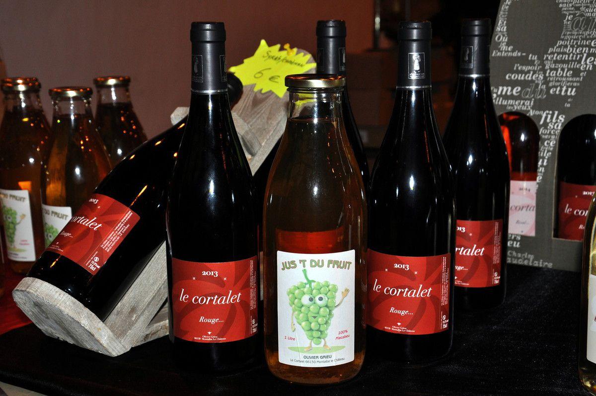 Nouveauté au Cortalet les vins sont connus de Montalba, mais le jus de raison arrive aussi.