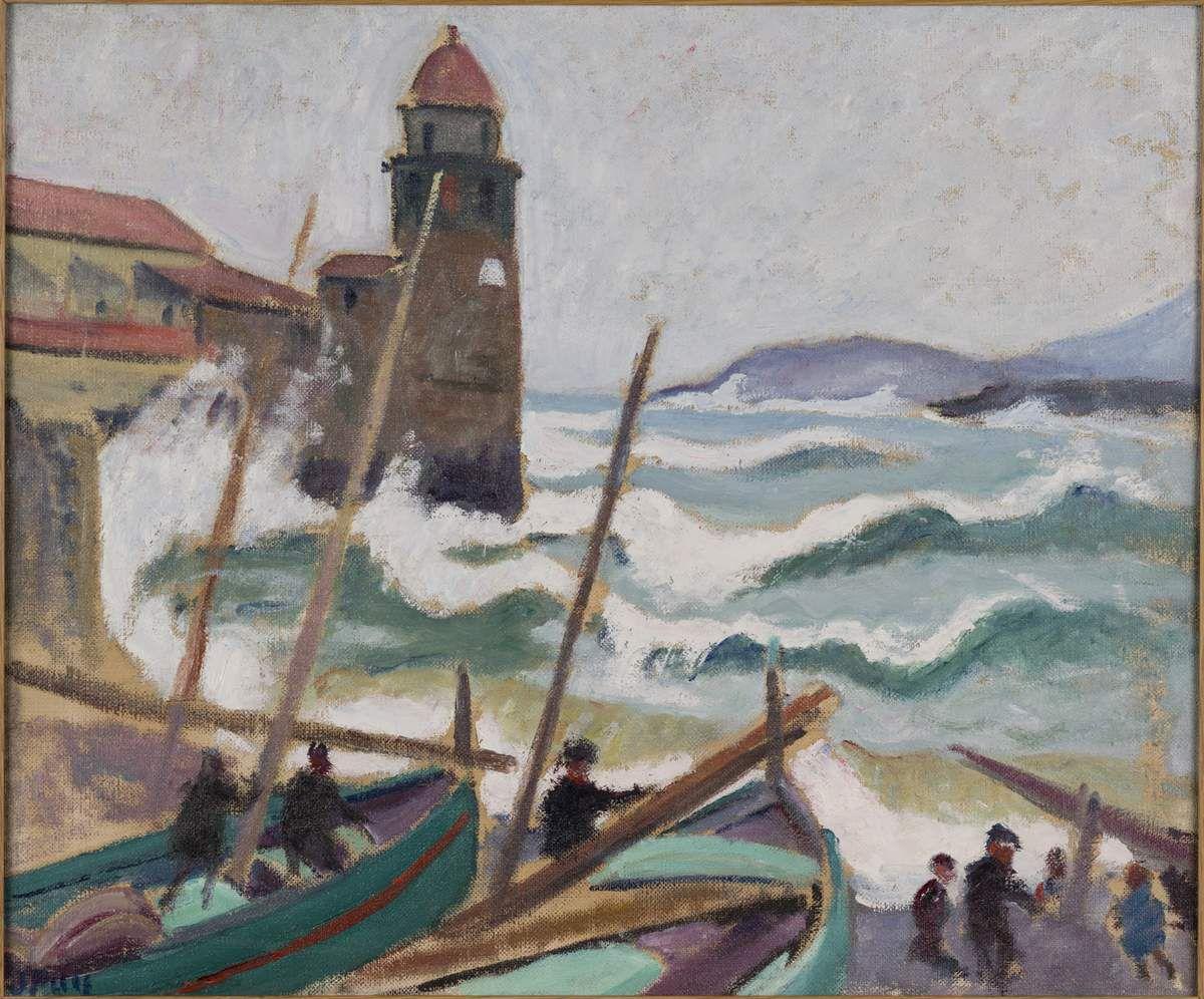 Jean Puy Tempête à Collioure, 1913 Huile sur toile 46 x 55 cm Collection particulière © Tous droits réservés / ADAGP-Paris, 2016