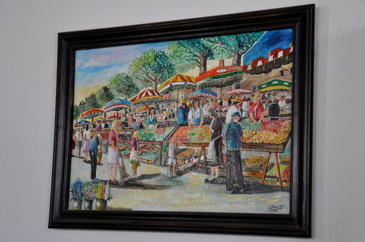 Le marché en peinture.