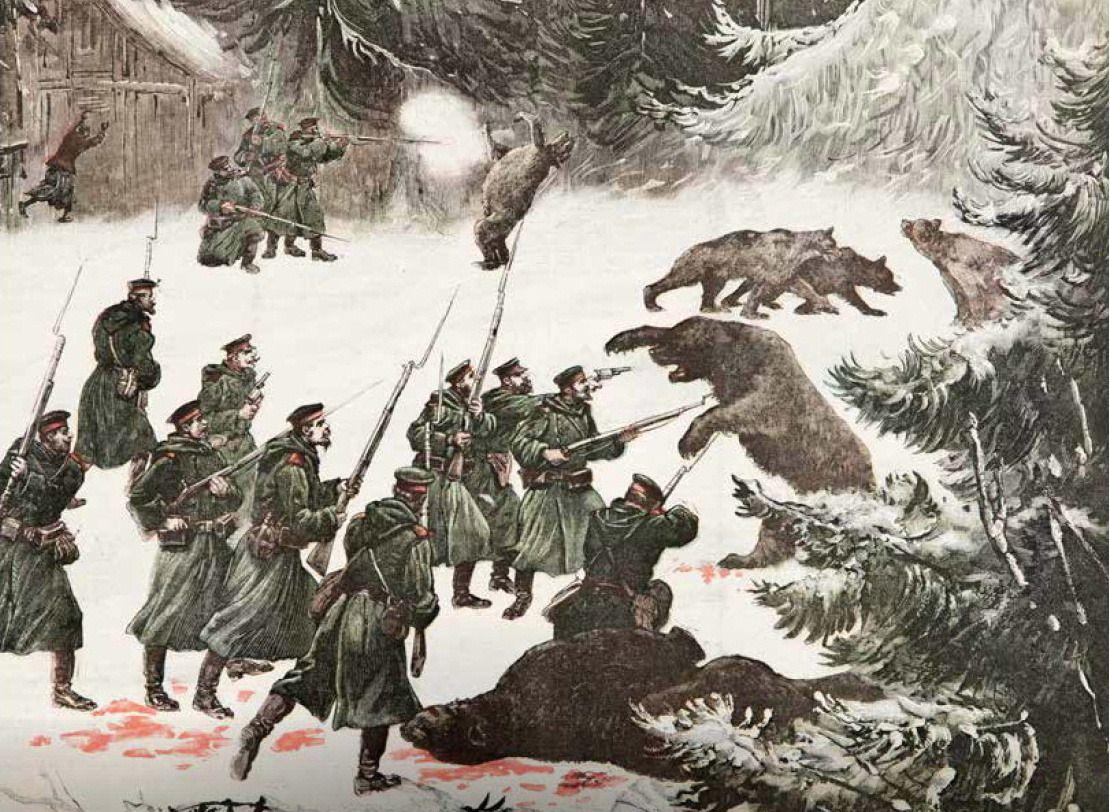 En Russie : Invasion d'ours, Le Petit Journal, 26 novembre 1892 © M.N.H.N – Bernard Faye