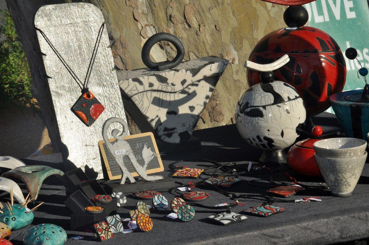 Savons et raku (poteries)