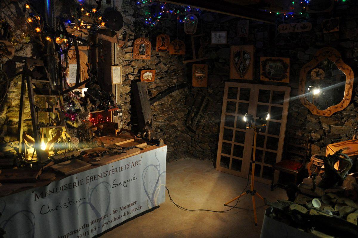 L'atelier avant que l'exposition ouvre ses portes.