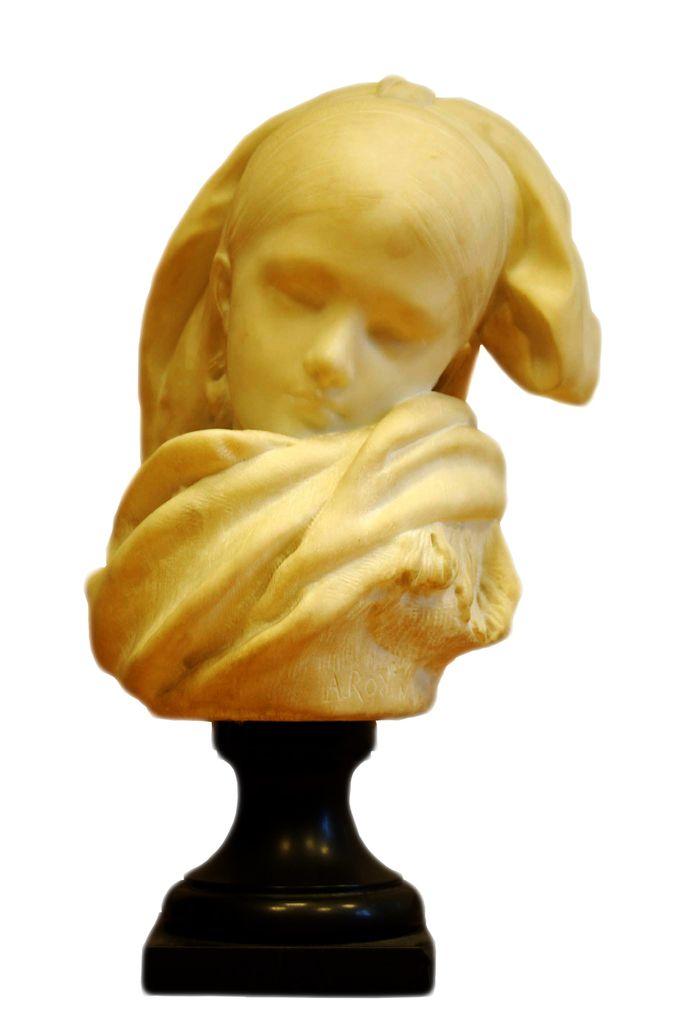 AUGUSTE RODIN, L'Orpheline Alsacienne Après 1871 Marbre Fondation Nationale des Arts Graphiques et Plastiques Hôtel Salomon de Rothschild inv. MOA172 © FNAGP