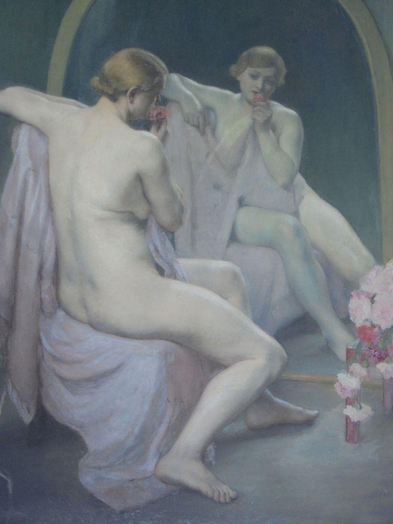 Madeleine Smith-Champion - Femme assise devant un miroir - Huile sur toile 1937 - Collection FNAGP © FNAGP