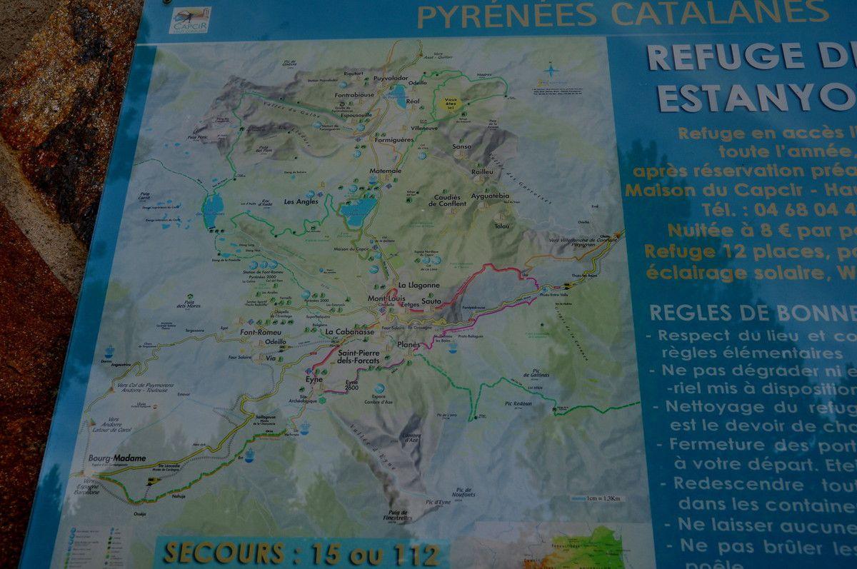 La carte du refuge.
