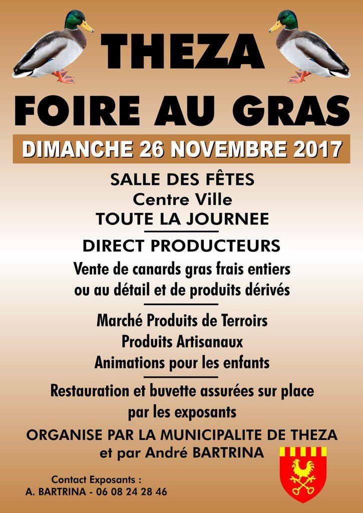 A vos agandas : 1ère foire au gras à Théza