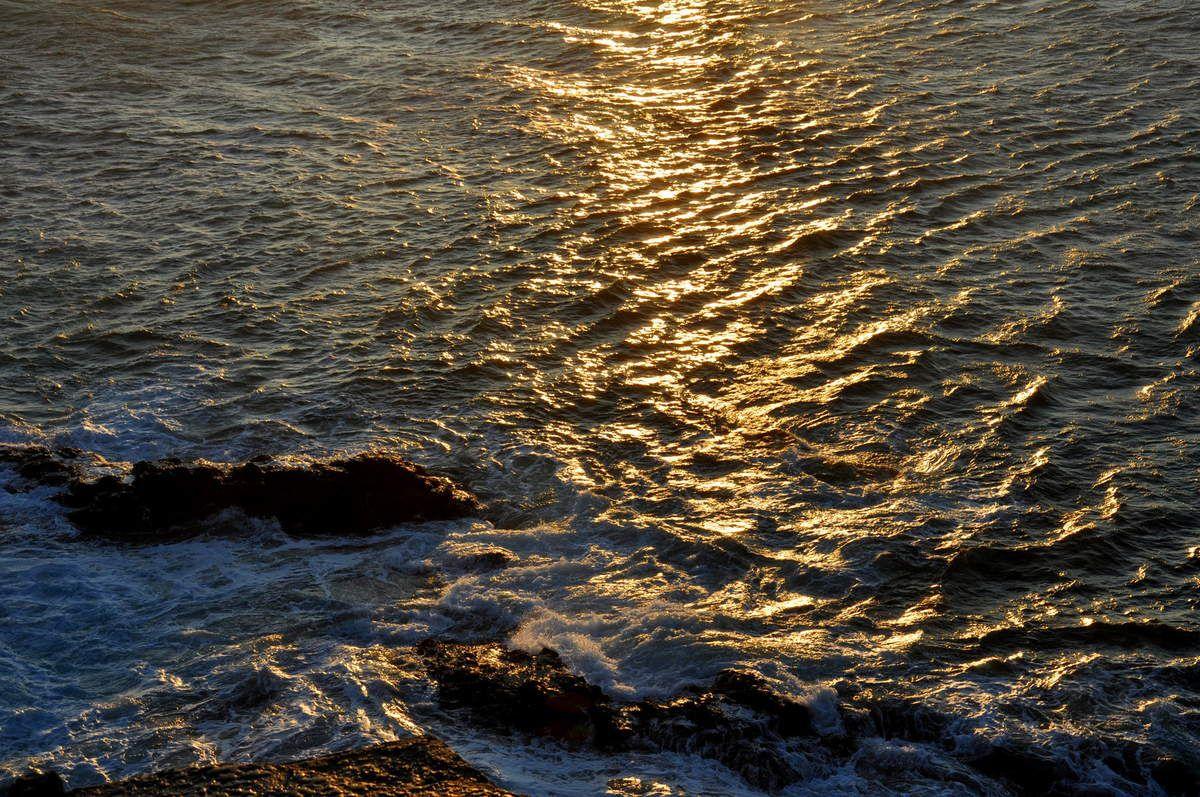 Une pause dans les vagues.