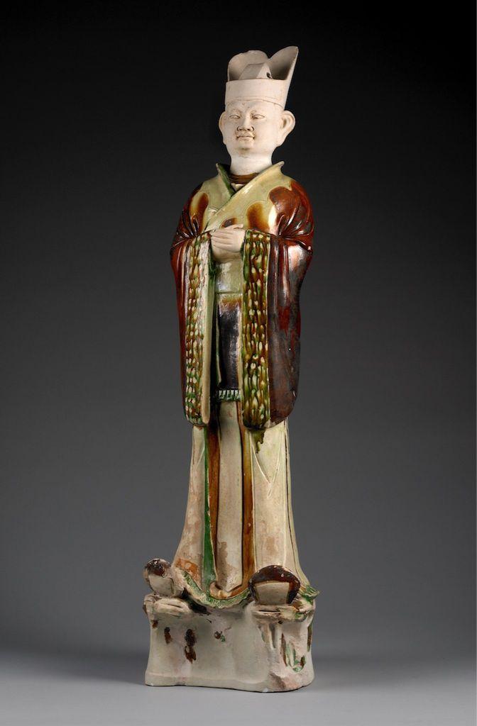 Figure funéraire chinoise de l'époque Tang , Céramique , Vers 728 , Province du Henan, Chine, 1936
