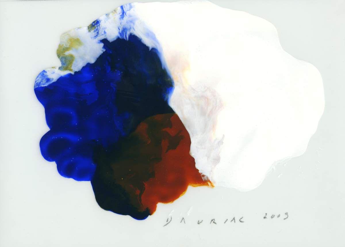 Jacqueline Dauriac, Sans titre, 2009. Acrylique sur papier calque, 21 x 29,7 cm