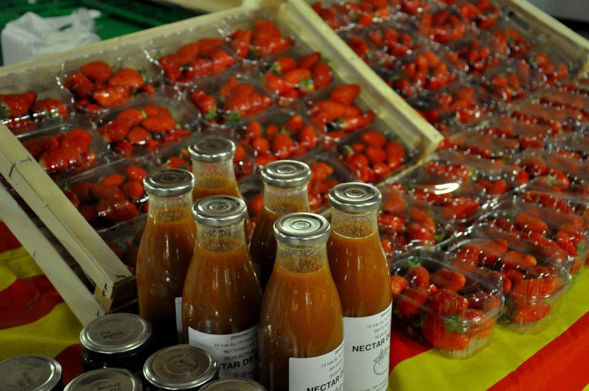 Fraises, et nectar de fraises.