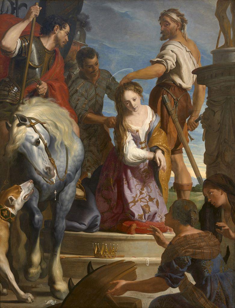 Gaspar de Crayer Le Martyre de sainte Catherine ca 1622 Huile sur toile Grenoble, musée des Beaux-Arts