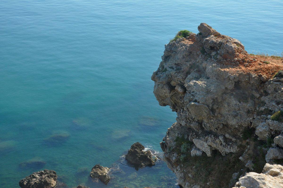 Un détail sur la falaise.