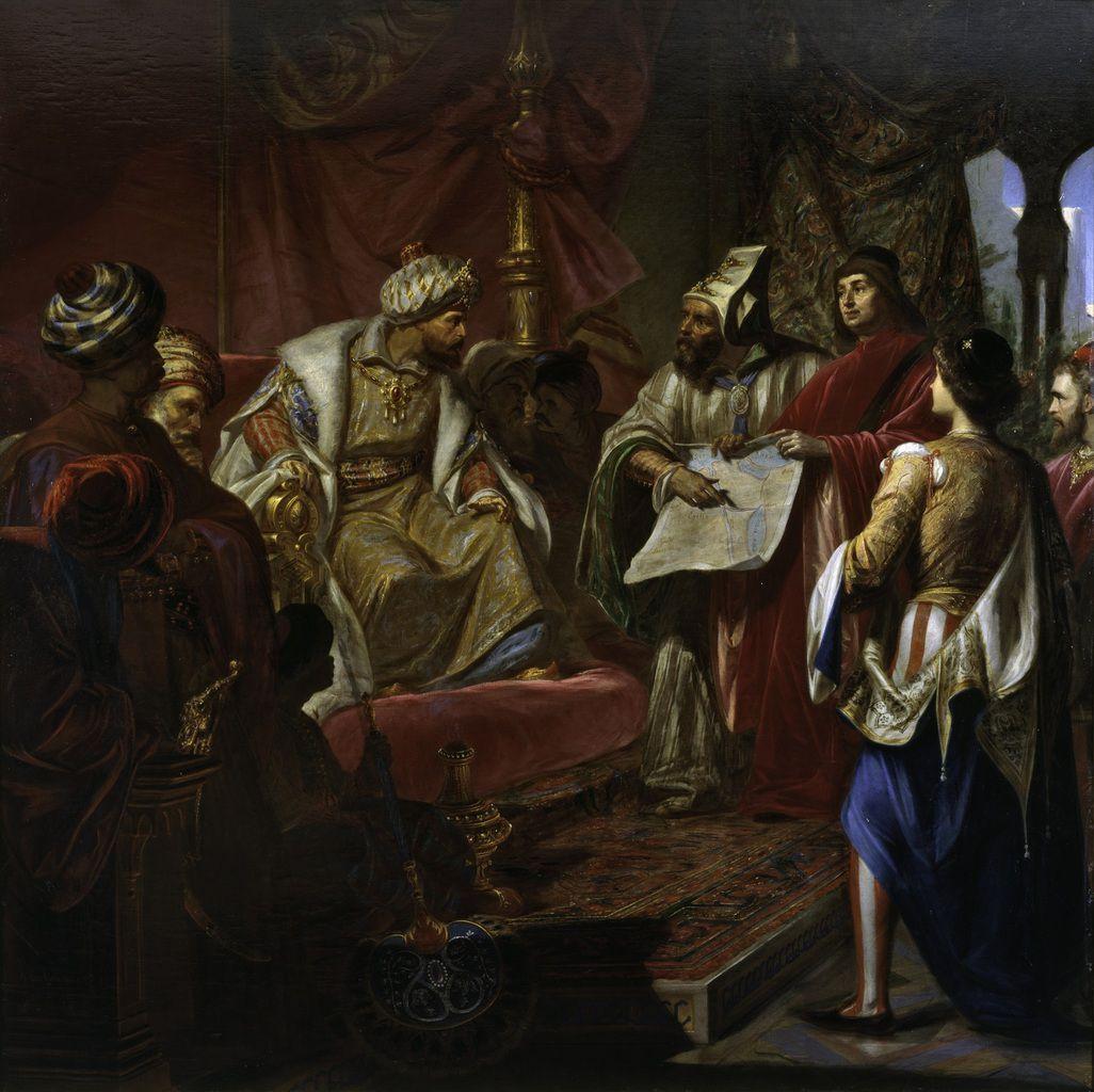 Giulio Carlini, Les Vénitiens présentent leur projet de Canal au sultan, 1869 © Engie