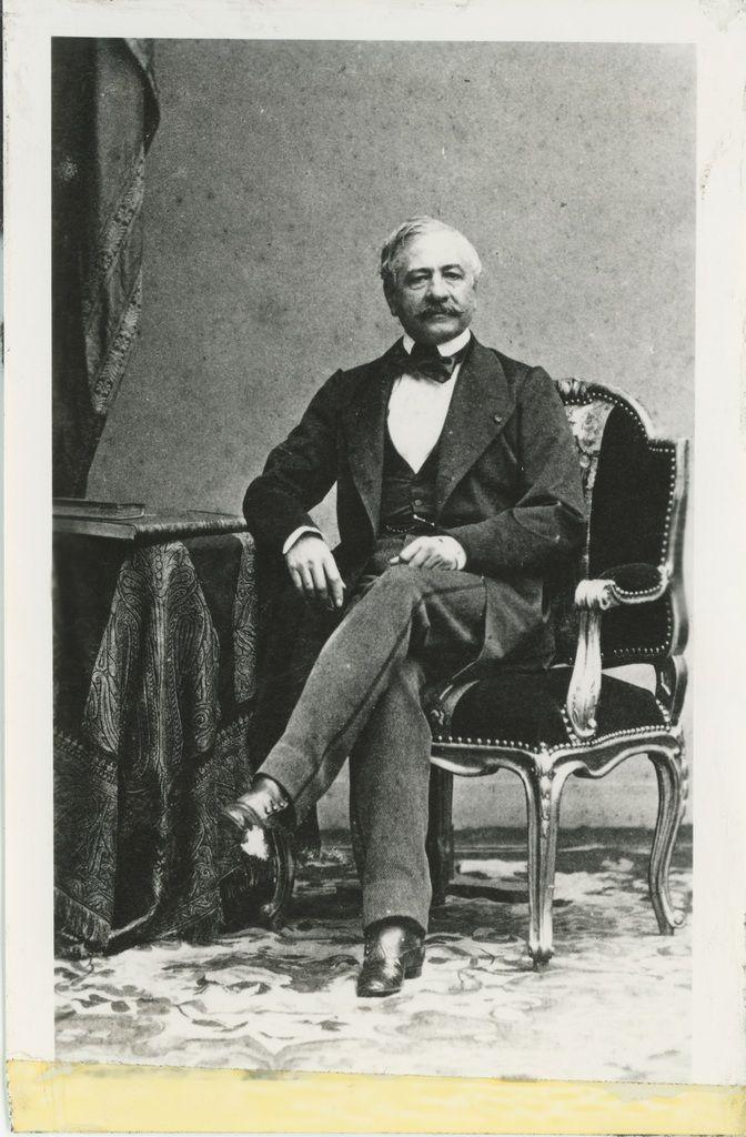 Disderi, Portrait de Ferdinand de Lesseps, 1880 © Souvenir de Ferdinand de Lesseps et du Canal de Suez / Lebas Photographie Paris