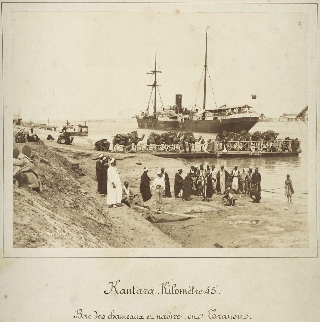 Hippolyte Arnoux et Zangaki frères, Kantara. Kilomètre 45, 1869 - 1885 © Archives nationales du monde du travail (Roubaix)