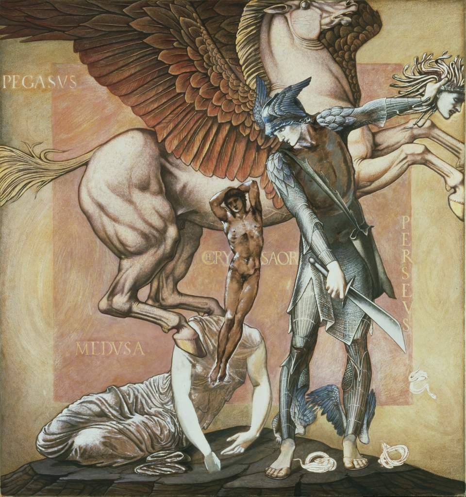 The Death of Medusa I - 1882 - bodycolor on paper 125x117 cm Southamton City Art Gallery