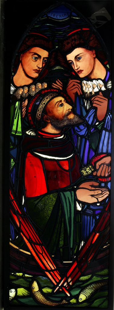 The Calling of St Peter 1857 Stained and peinted glass 1072x356 mm Victoria and Albert Museum