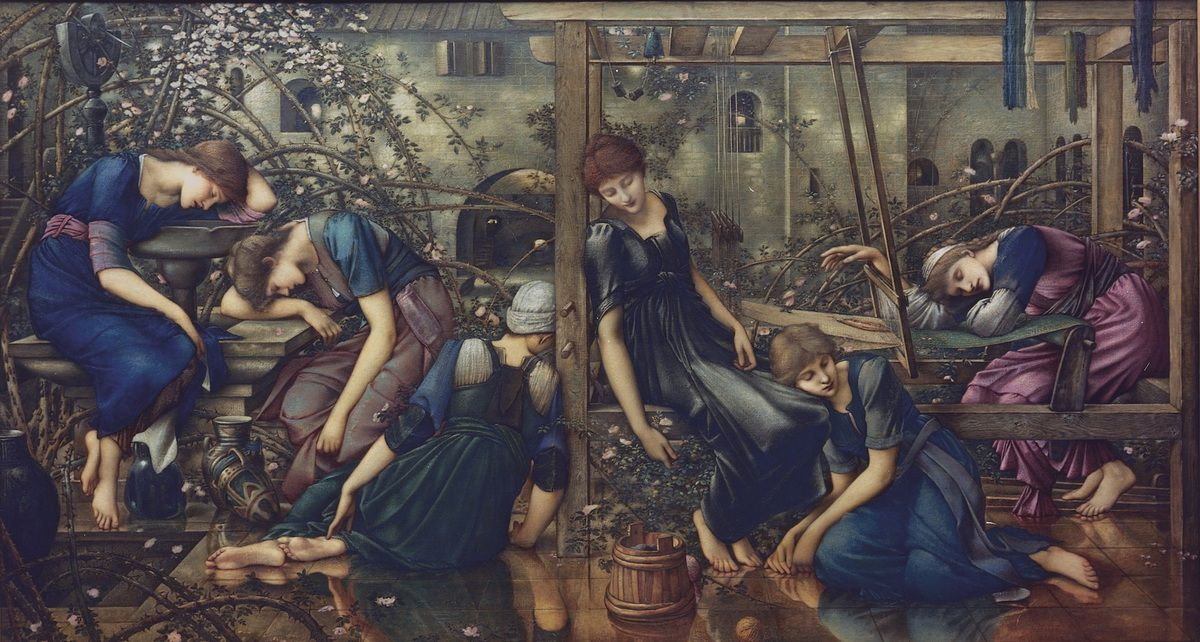 The Garden Court 1874-78 Oil on canvas 1250x2310 cm The Faringdon Collection Trust