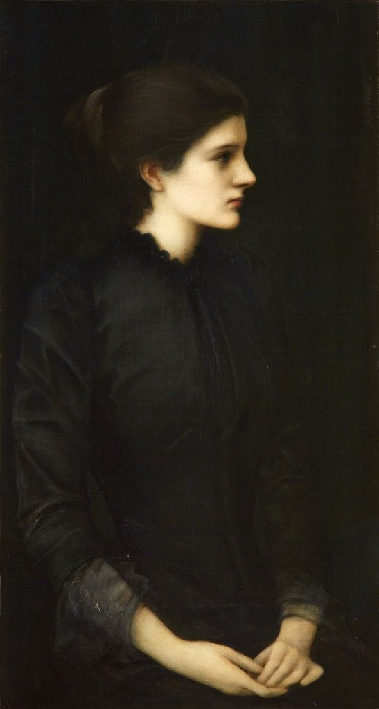 Portrait of Amy Gaskell 1893 oil on canvas 95x61 cm Private collection