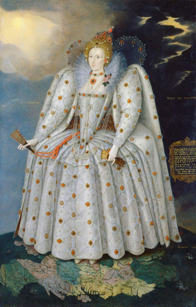 """Marcus Gheeraerts the Younger, Queen Elizabeth I (""""The Ditchley Portrait""""), c. 1592 Oil on Canvas, National Portrait Gallery, London © National Portrait Gallery, London"""