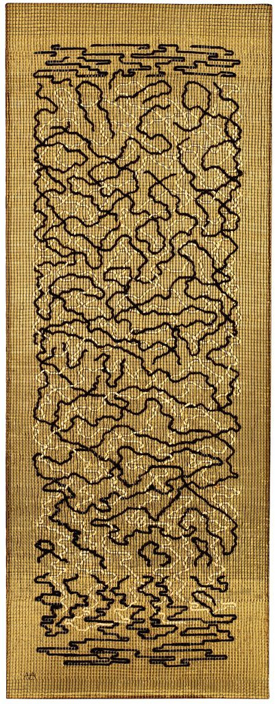 Anni Albers Epitaph 1968 Pictorial weaving 1498 x 584 mm The Josef and Anni Albers Foundation, Bethany CT © 2018 The Josef and Anni Albers Foundation / Artists Rights Society (ARS), New York/DACS, London