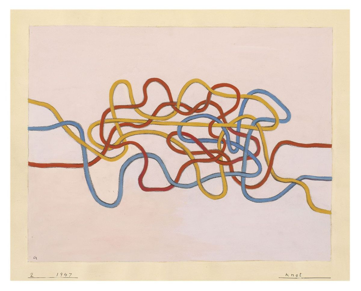 Anni Albers Knot 1947 Gouache on paper 43.2 × 51 cm The Josef and Anni Albers Foundation, Bethany CT © 2018 The Josef and Anni Albers Foundation/Artists Rights Society (ARS), New York/DACS, London Photo: Tim Nighswander/Imaging4Art
