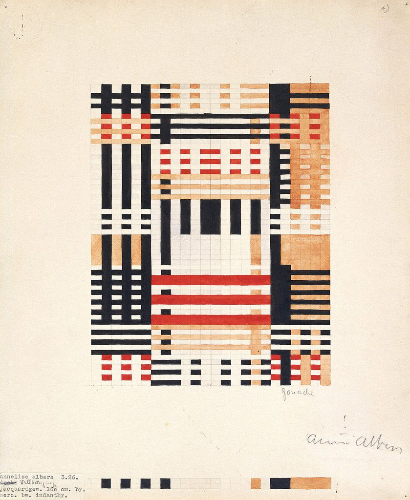 Anni Albers Design for Wall Hanging 1926 Gouache and pencil on paper 356 x 292 mm Museum of Modern Art, New York, Gift of the designer © 2018 The Josef and Anni Albers Foundation/Artists Rights Society (ARS), New York/DACS, London