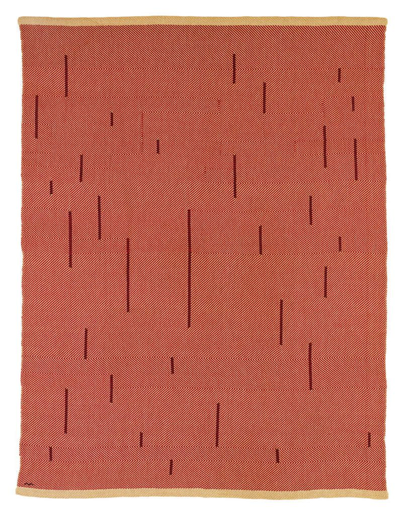 Anni Albers With Verticals 1946 Red cotton and linen 1549 x 1181 mm The Josef and Anni Albers Foundation, Bethany CT ©2018TheJosefandAnniAlbersFoundation/ArtistsRightsSociety(ARS),New York/DACS, London Photograph by Tim Nighswander/Imaging4Art