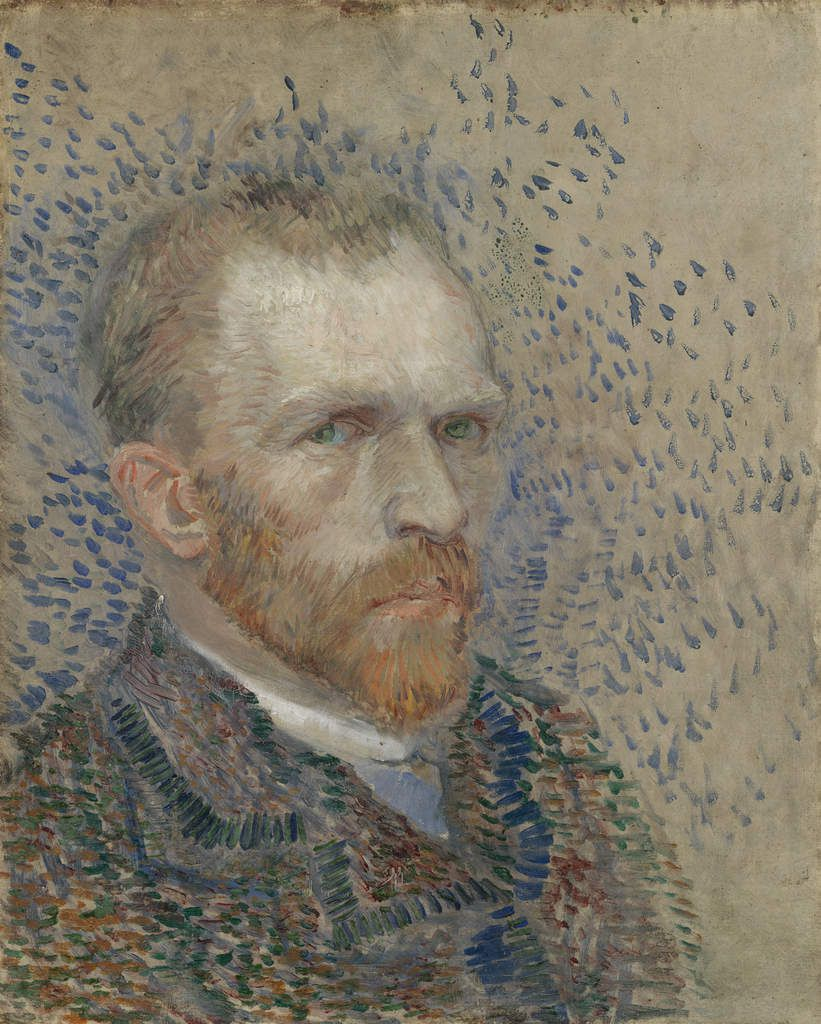 Vincent van Gogh, Self-Portrait, March–June 1887, oil on cardboard, Van Gogh Museum, Amsterdam (Vincent van Gogh Foundation).