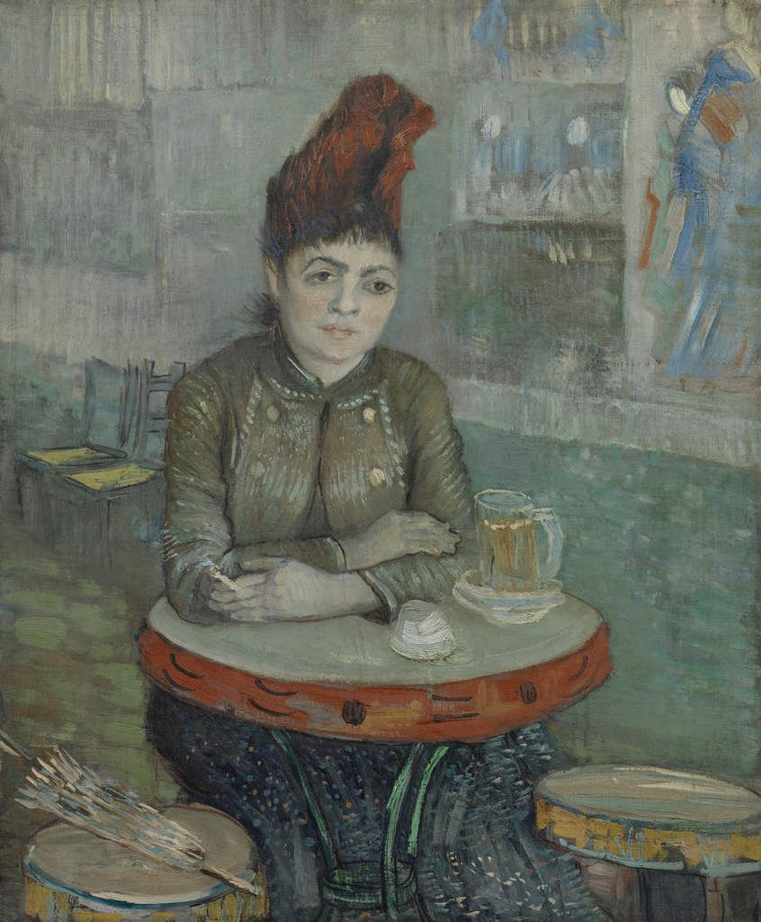 Vincent van Gogh, In the Café: Agostina Segatori in Le Tambourin, January–March 1887, oil on canvas, Van Gogh Museum, Amsterdam (Vincent van Gogh Foundation).