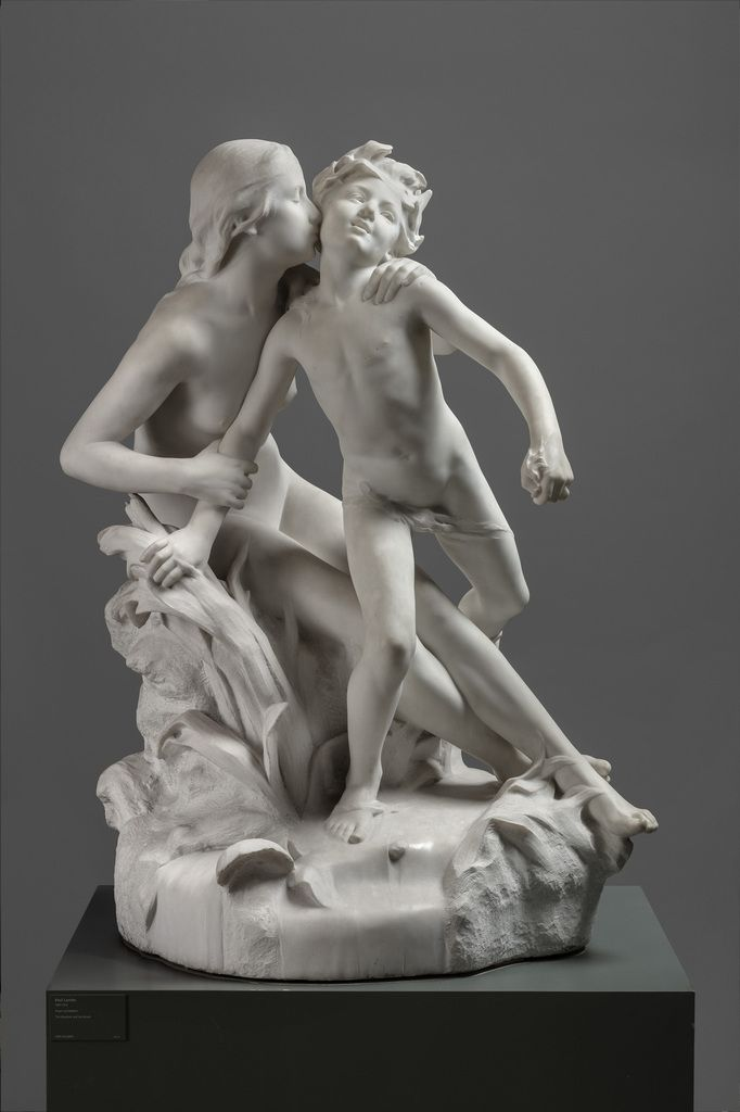 Raoul Larche (1860-1912) The Meadow and the Brook 1900-02 (original model from 1891) Marble 161 × 122 × 105 cm Ny Carlsberg Glyptotek, MIN 579 © Ny Carlsberg Glyptotek, Copenhagen Photo: Anders Sune Berg