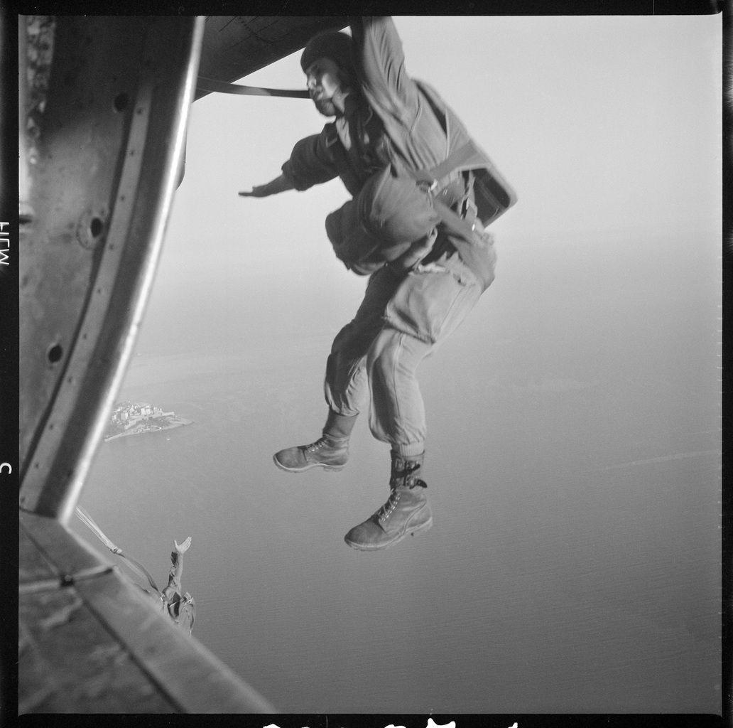 Entraînement du 1er CHOC à Calvi, 1962-1963.