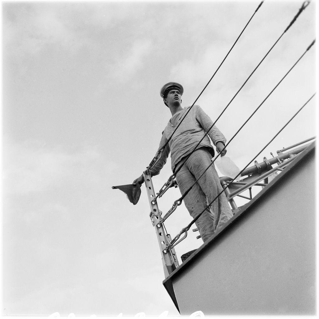 Marin sur l'escorteur Dupetit-Thouars, France, 1963.