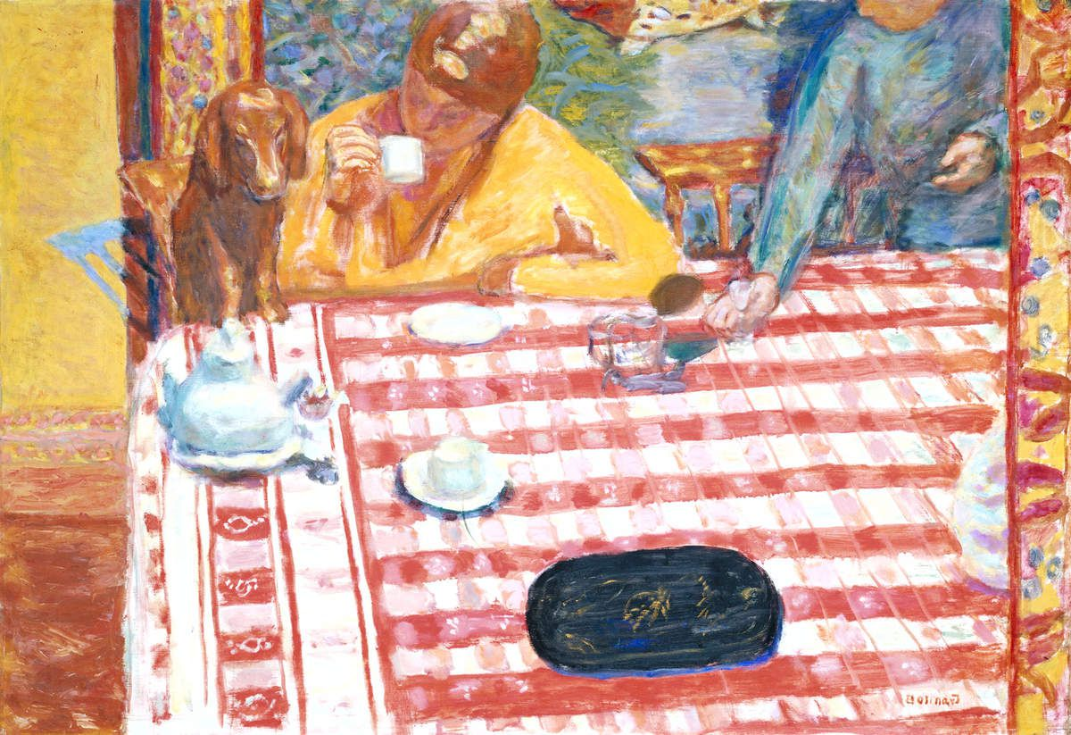 Pierre Bonnard - Coffee 1915 Pierre Bonnard (1867 – 1947) Coffee (Le Café) 1915 Oil paint on canvas 730 x 1064 mm Tate