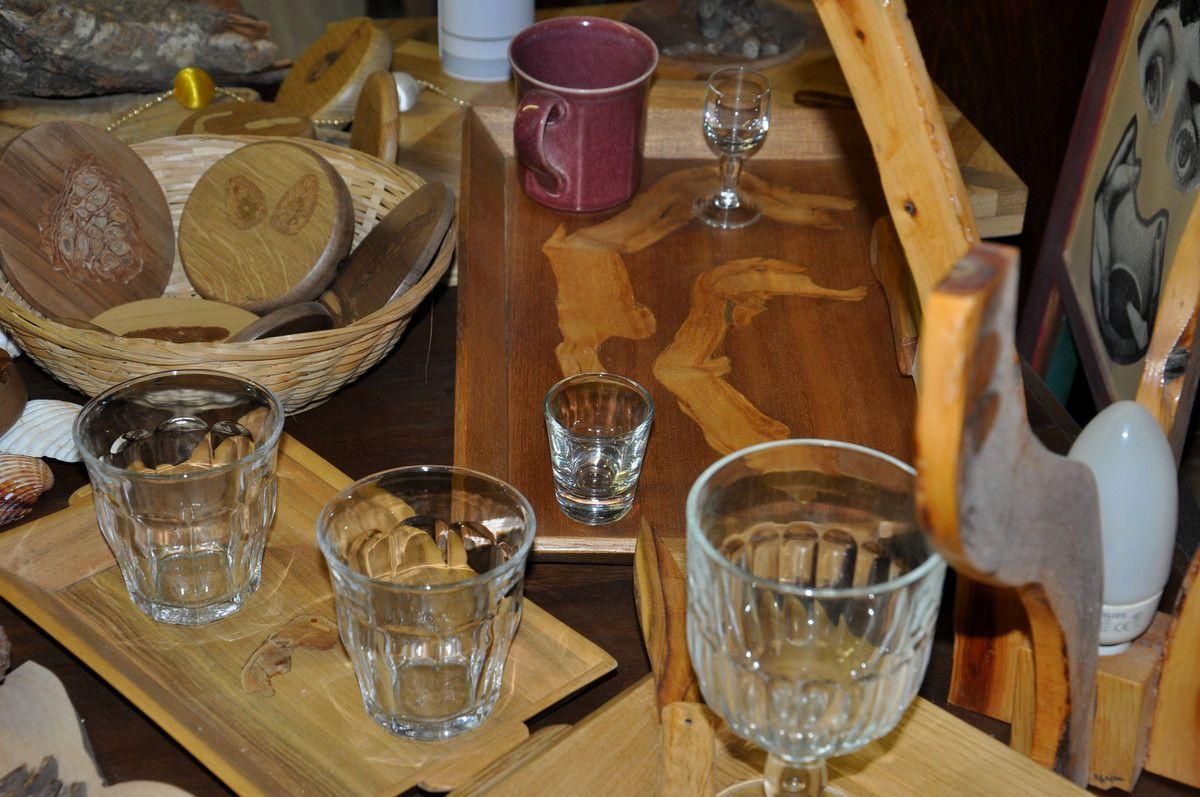 Les verres pour donner une idée de la taille