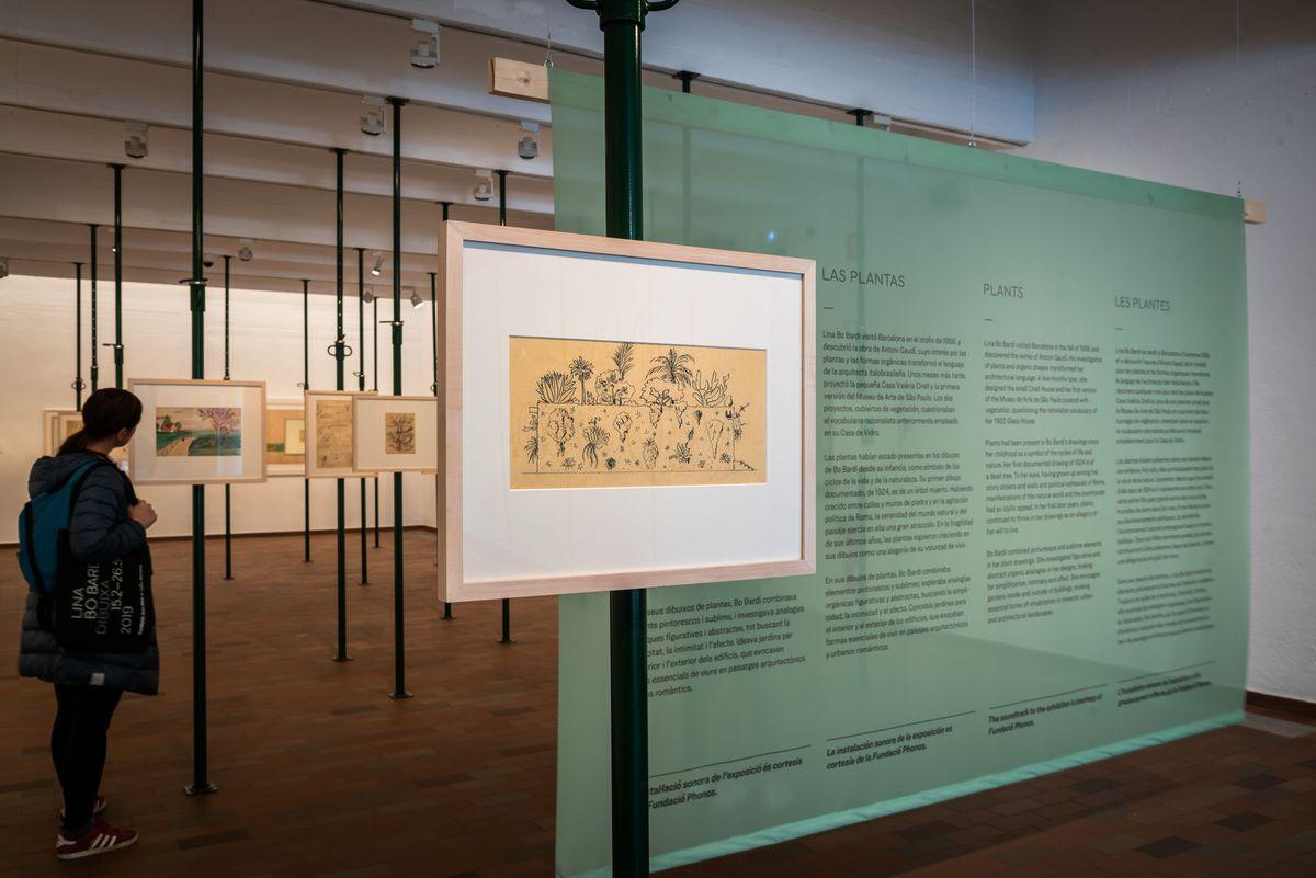Lina Bo Bardi drawing Exhibition Views