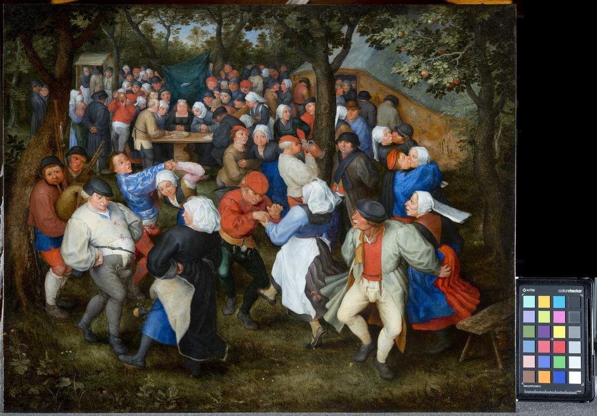 JAN I BRUEGHEL L'ANCIEN Danse de noces ca. 1600 Huile sur cuivre, 40'5 × 50,5 cm Bordeaux, musée des Beaux-Arts, inv. bx e 103 © Mairie de Bordeaux, Lysianne Gauthier