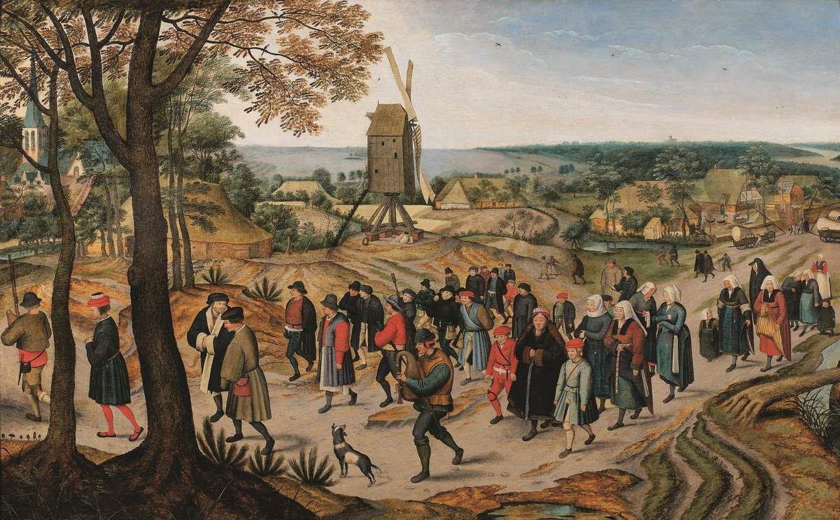 PIETER II BRUEGHEL (Bruxelles, 1564 – Anvers, 1638) La Procession nuptiale Signé et daté : « P. BREVGHELK 1627 » Huile sur bois, 75 × 120,7 cm Genève, De Jonckheere © De Jonckheere, Genève