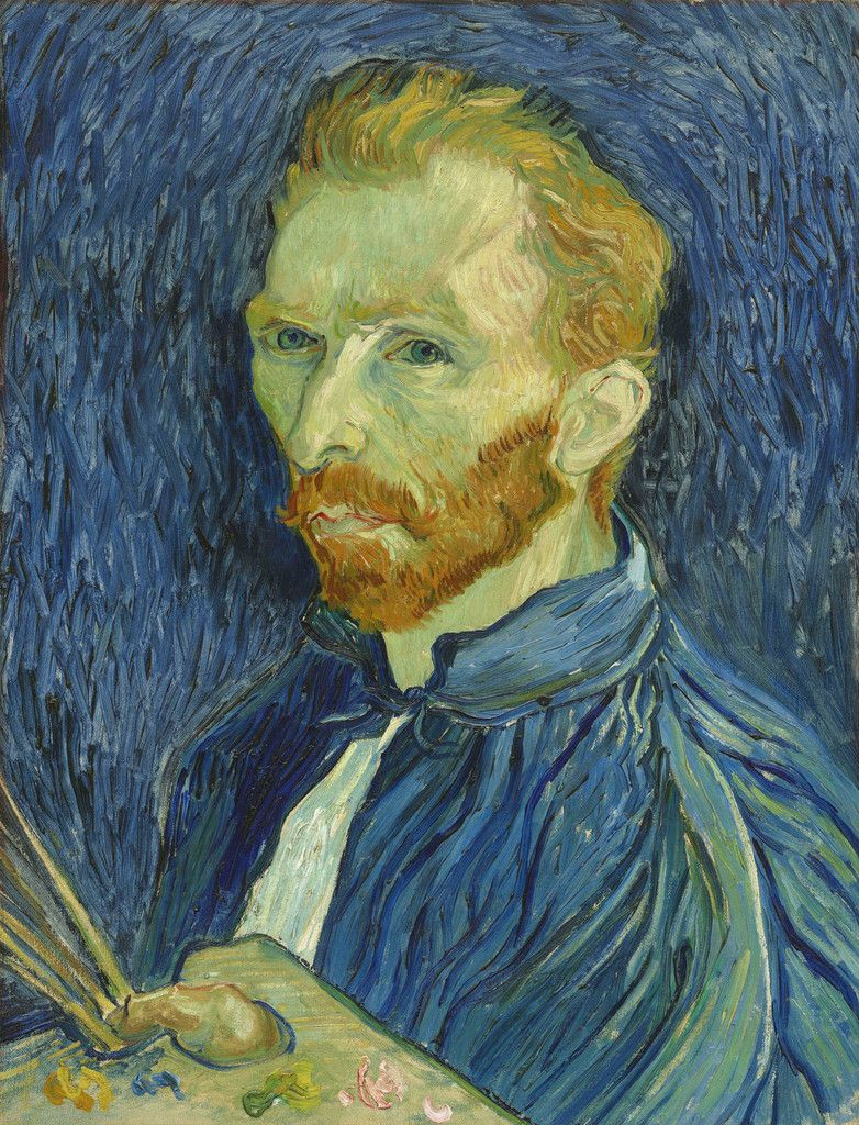 Vincent van Gogh (1853 – 1890) Self-Portrait 1889 Oil paint on canvas 572mm x 438mm National Gallery of Art, Collection of Mr. and Mrs. John Hay Whitney