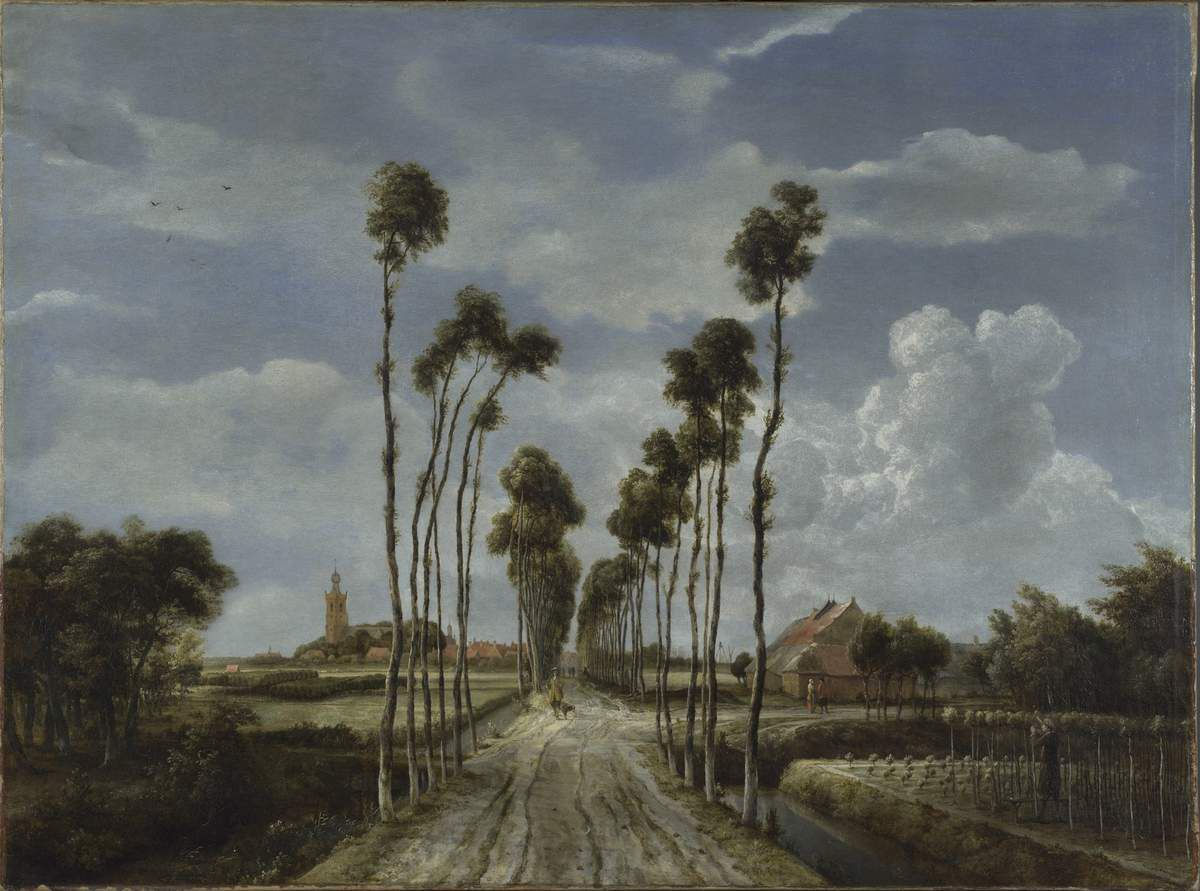 Meindert Hobbema (1638 – 1709) The Avenue at Middelharnis 1689 Oil paint on canvas 1035 x 1410 mm © The National Gallery, London