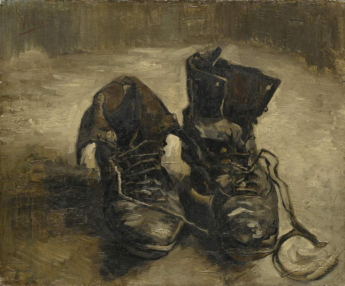 Vincent van Gogh (1853 – 1890) Shoes 1886 Oil paint on canvas 381 x 453 mm Van Gogh Museum, Amsterdam (Vincent van Gogh Foundation).