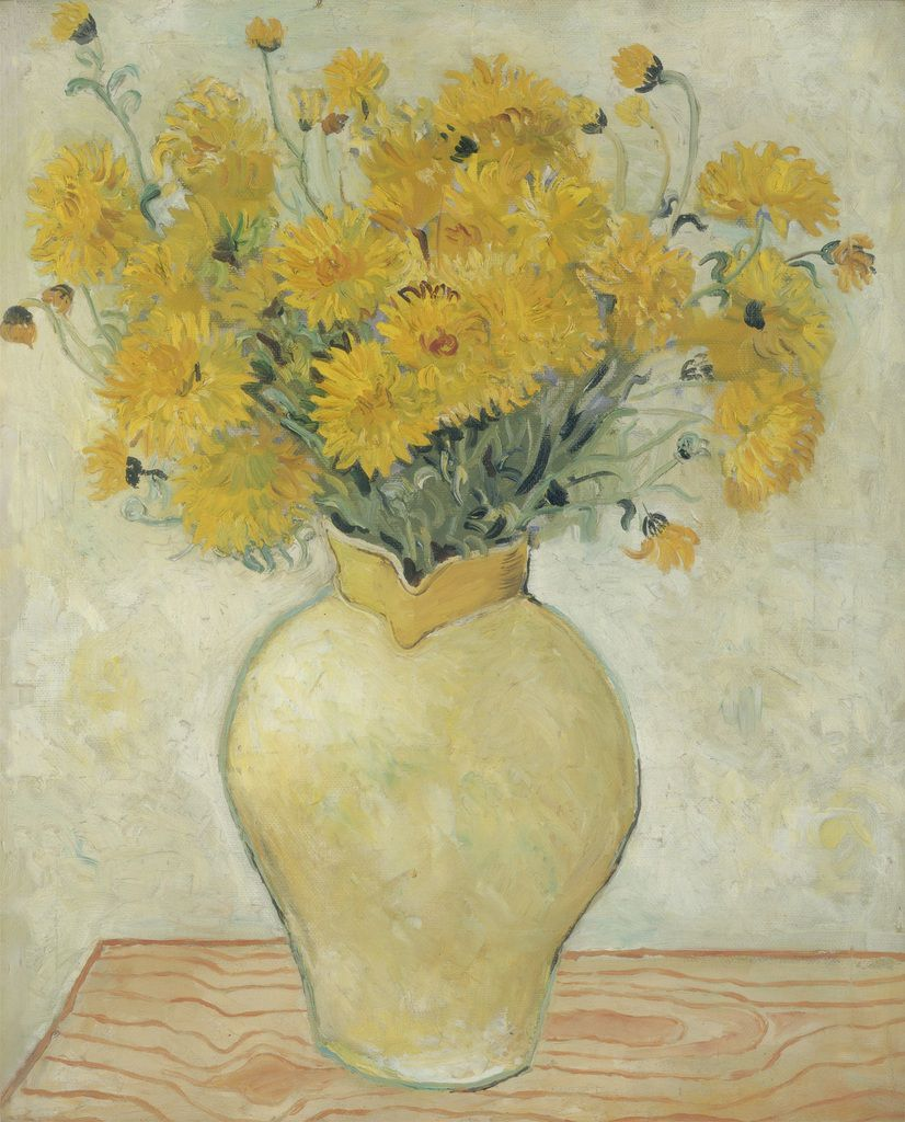 Christopher Wood (1901- 1930) Yellow Chrysanthemums 1925 Oil paint on canvas 610 x 510 mm Mr Benny Higgins & Mrs Sharon Higgins Jacob Epstein