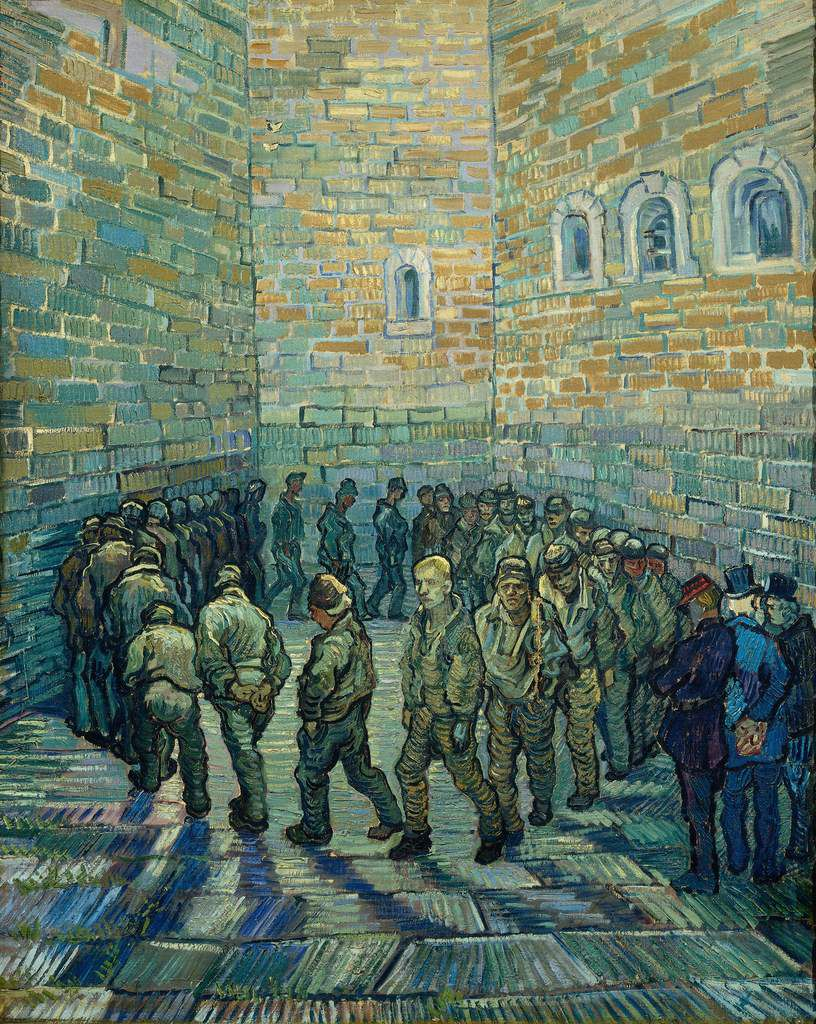 Vincent van Gogh (1853 – 1890) Prisoners Exercising 1890 Oil paint on canvas 800 x 640 mm © The Pushkin State Museum of Fine Arts, Moscow