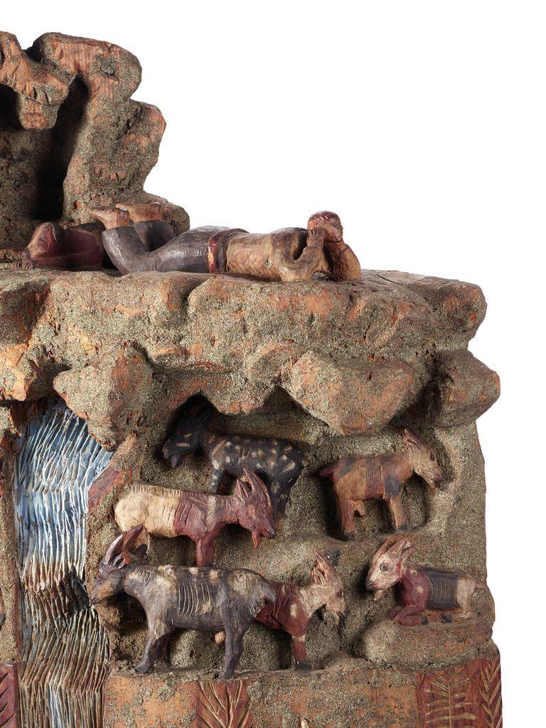 Sculpture naïve de berger Suisse, Valais, Nax Vers 1900 Bois. H 50 cm Collection Georges Amoudruz acquise en 1976 MEG Inv. ETHEU 108548 Photo: © MEG, J. Watts