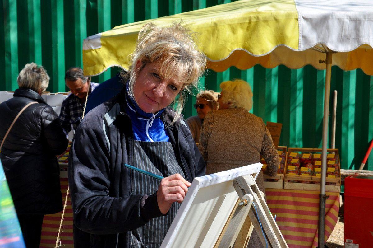 Sur le stand du fromage, mais ici en artiste peintre.