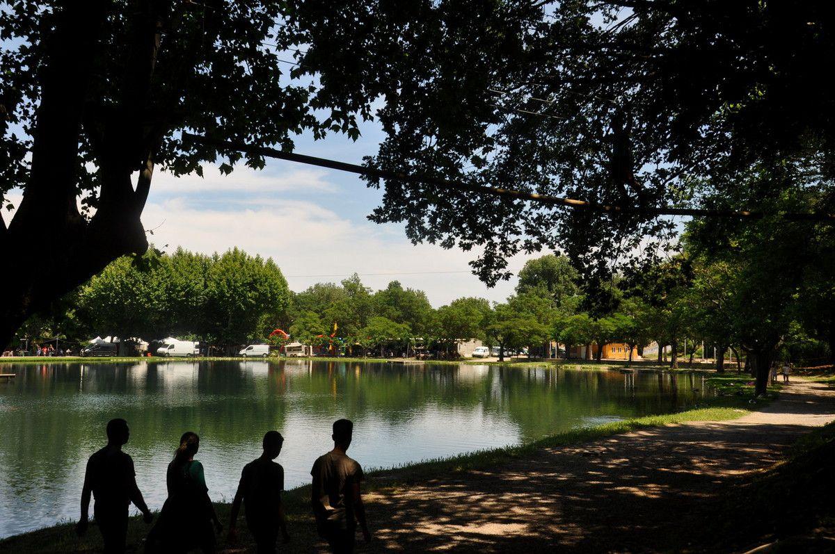 L'acrobranche c'est nouveau au lac et à quelques centaines de mètres de la fête.