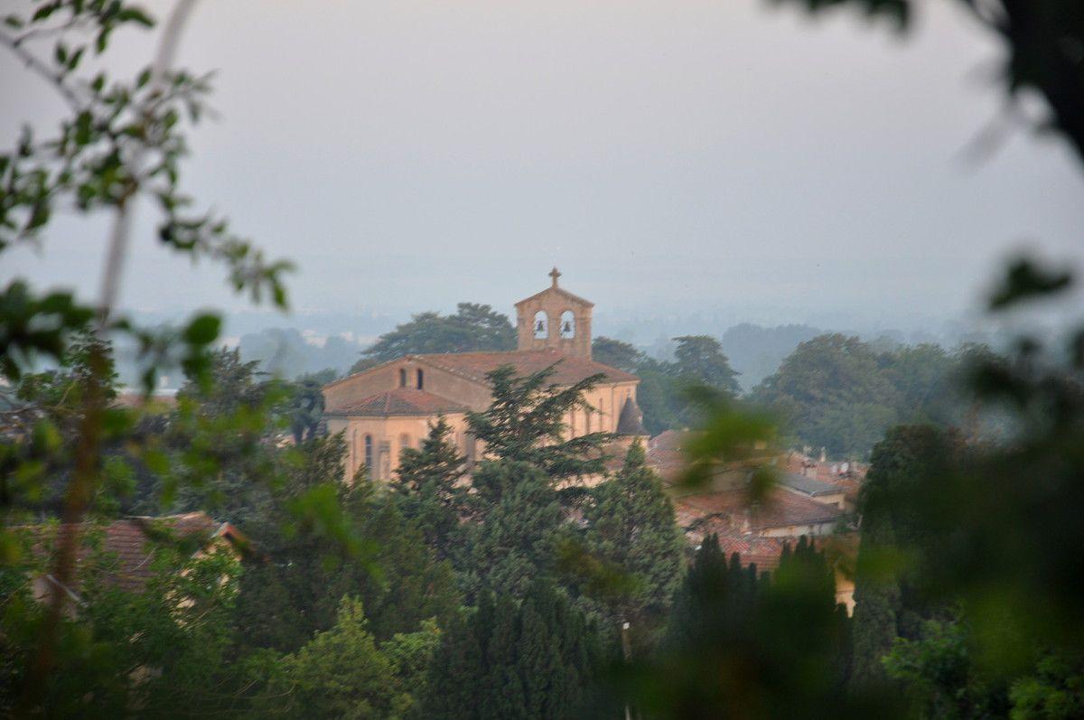 Le brouillard de pollution en photos, cela donne comme un jour triste. Sorèze.