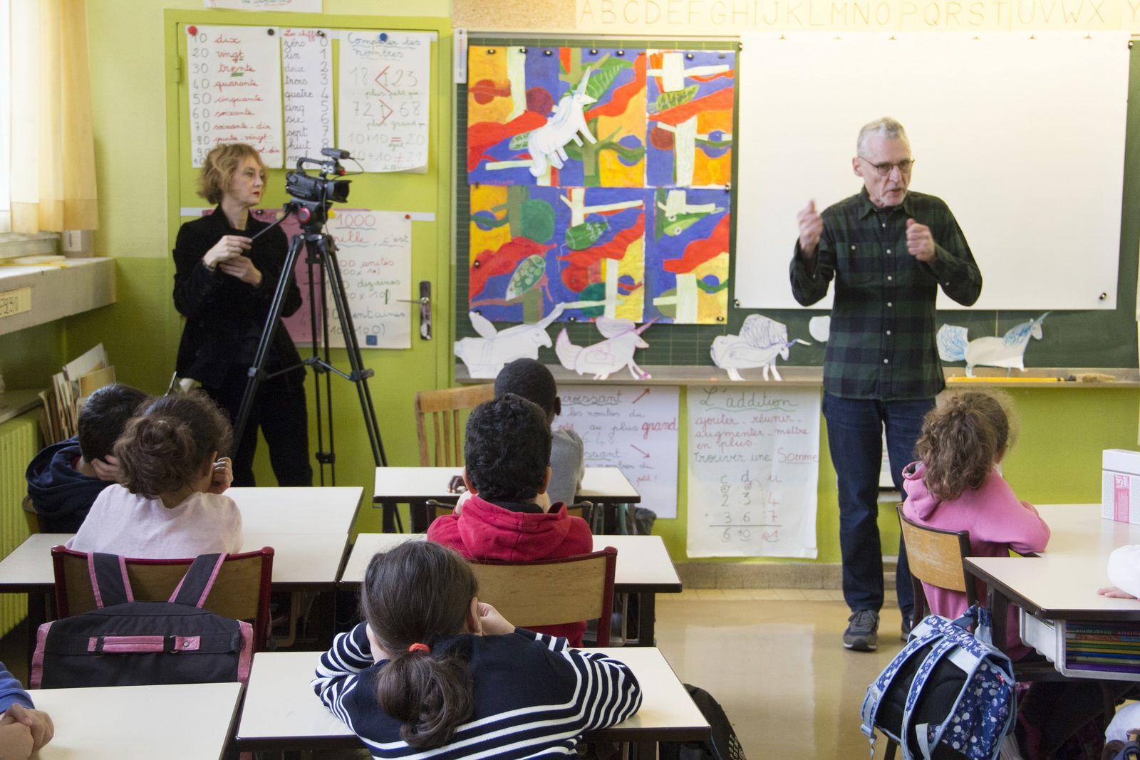 Workshop avec l'artiste Gilgian Gelzer - École Berthier - FMAC  MDD2019