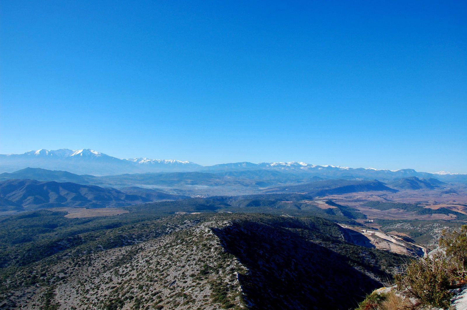 Et la vue sur la montagne et le Canigou