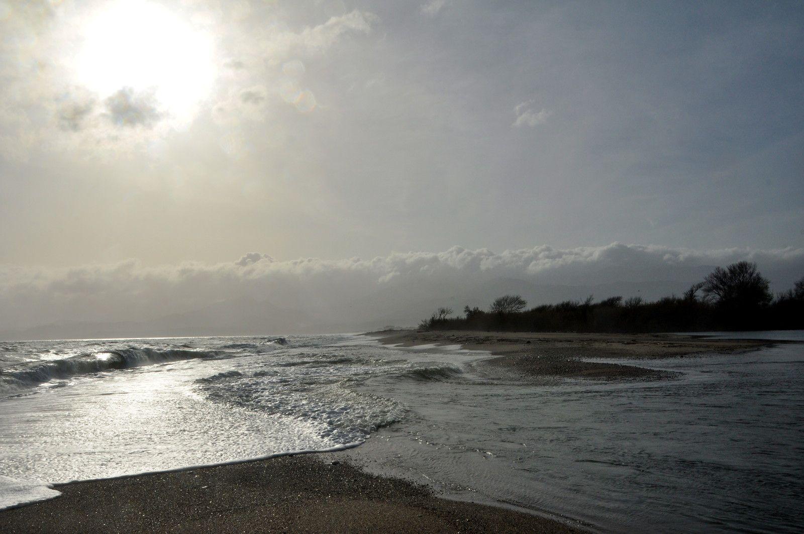 La rencontre entre la mer et le fleuve.